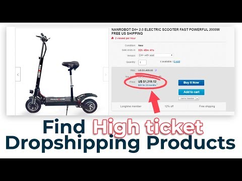 Find High Ticket Drop Shipping Products to Sell on eBay thumbnail