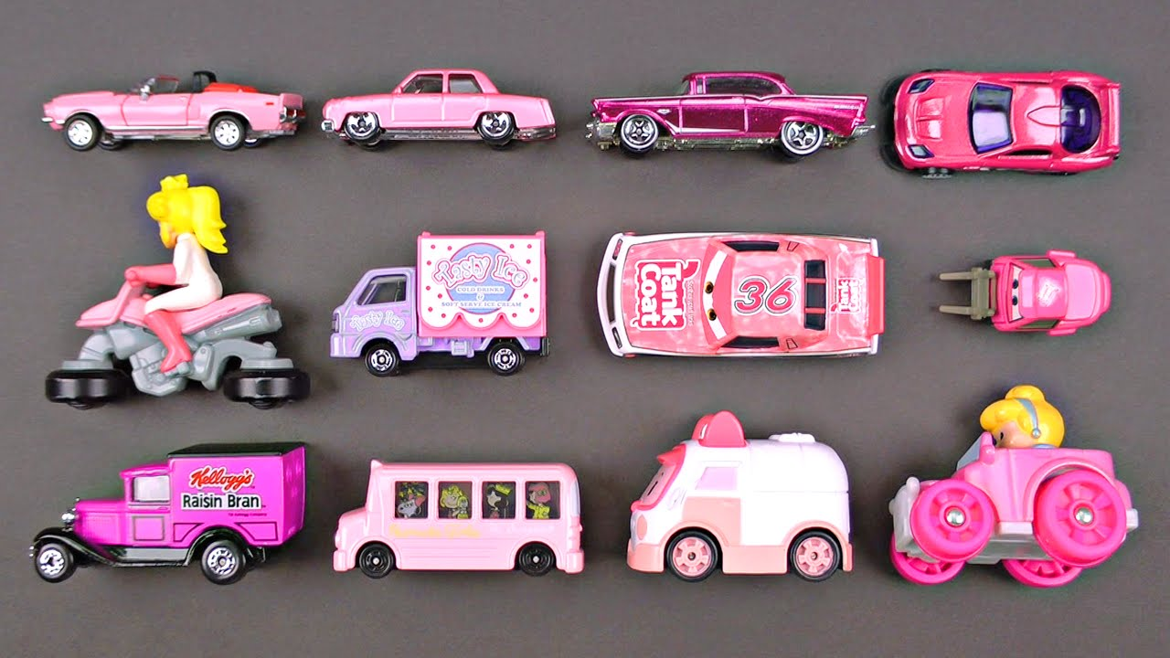 Learning Pink Street Vehicles for Kids - Cars and Trucks by Matchbox ...