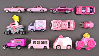 Learning Pink Street Vehicles for Kids - Cars and Trucks by Matchbox, Hot Wheels, Disney, Tomica トミカ