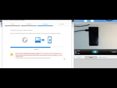 Sony Xperia M C1905 hard reset by update software