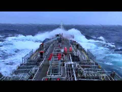 Merchant Navy Ships In Storms Video Compilation !