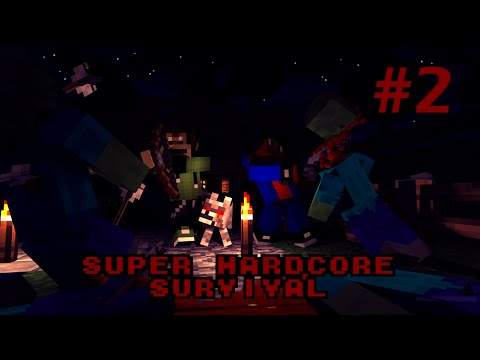 minecraft super hardcore survival - 2: Surviving the night