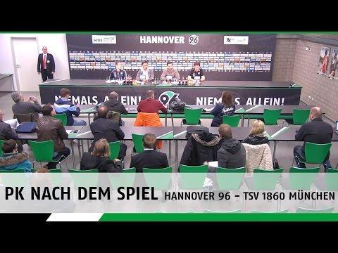 PK nach dem Spiel   Hannover 96 - TSV 1860 München