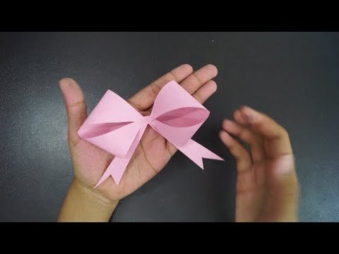 How to make a paper Bow Tie || Easy origami Bow/Ribbons for beginners making | DIY-Paper Crafts