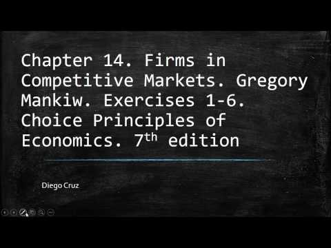 Chapter 14.  Principles of Economics. Firms in Competitive Markets. Exercises 1- 6