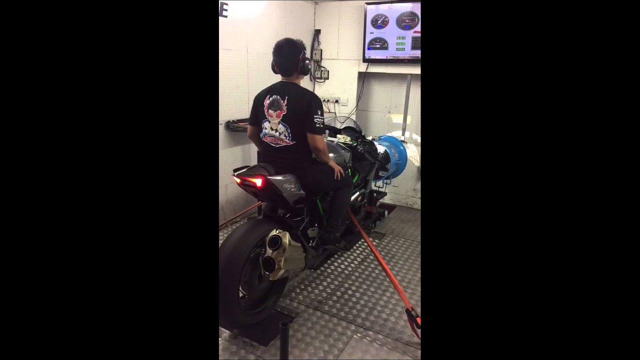 Kawasaki Ninja H2 Dyno Test Youtube