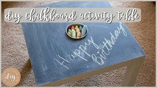 That's From IKEA?! DIY Chalkboard Activity Table