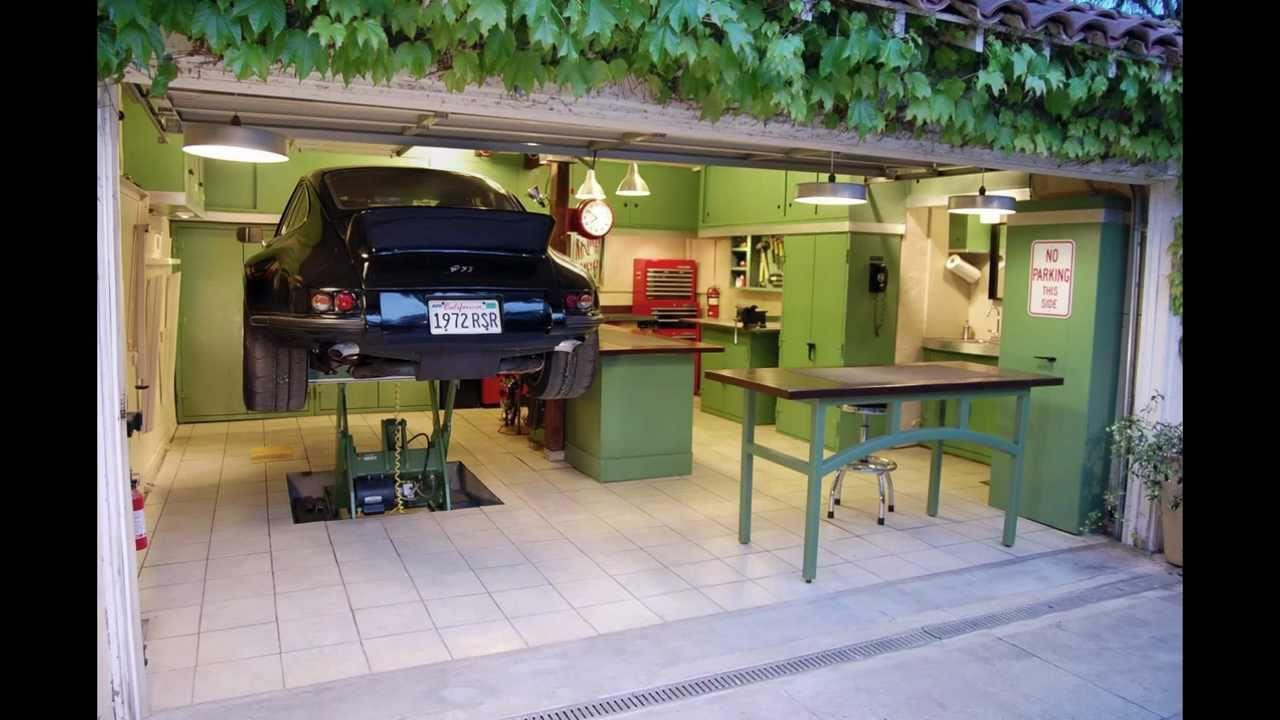 Car Garage With Workshop Pics
