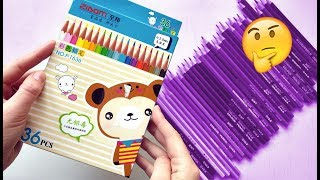 Testing super cheap 'Professional' colored pencils from WISH! | Leontine van vliet
