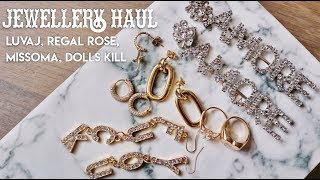Jewellery Haul || LuvAJ, Regal Rose, Missoma, Dolls Kill [Try on]
