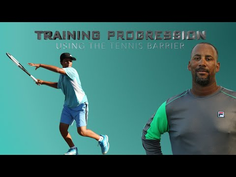 Tennis Training Progression using the barrier