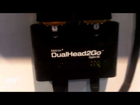 DSE 2014: Matrox Graphics Showcases DualHead2Go Multi Display Adapter, Shows Multi-Touch