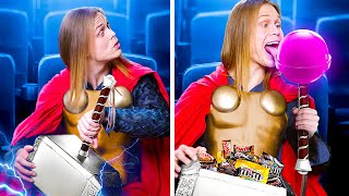 14 Ways to Snęak Snacks into the Movies! Superheroes at the Movie Theater