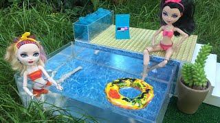 как сделать бассейн для куклы барби