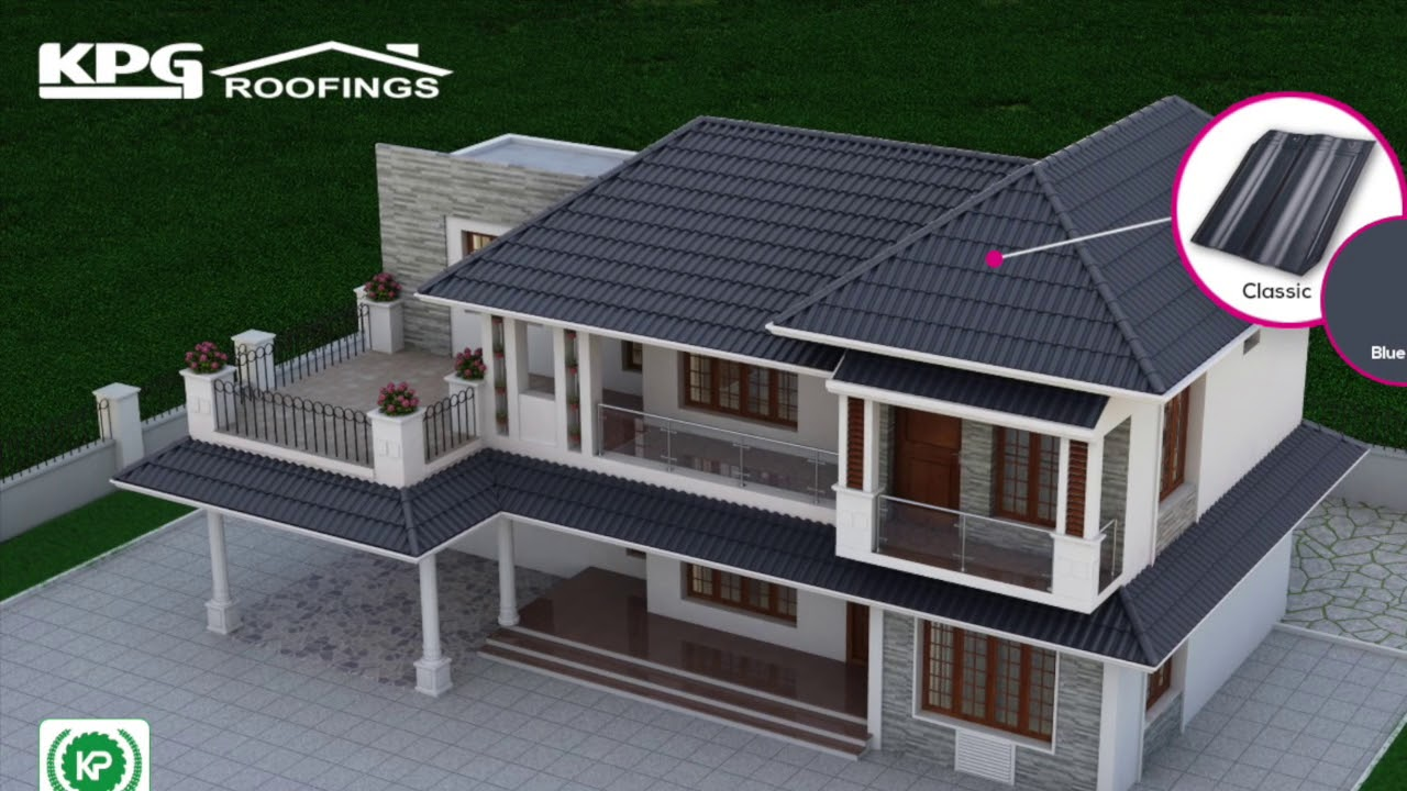 Kerala Home Roofing Designs Roof Tiles Drone Video Youtube