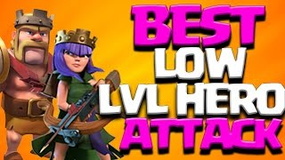 BEST LOW LEVEL HEROES TH9 3 Star Attack Strategy 2017 | Clash of Clans