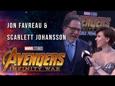 Scarlett Johansson and Jon Favreau Live at the Avengers: Infinity War Premiere