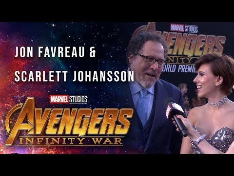 Scarlett Johansson and Jon Favreau Live at the Avengers: Infinity War Premiere