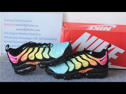 NIKE AIR VAPORMAX PLUS TROPICAL SUNSET QUICK LOOK + ON
