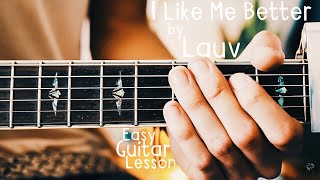 I Like Me Better Guitar Lesson for Beginners by Lauv // I Like Me Better Guitar Tutorial