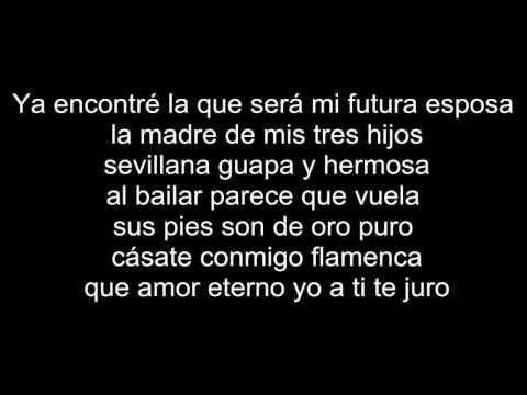 (Letra)-Fondo Flamenco-Mi Estrella Blanca