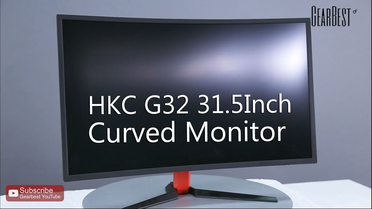 hkc g32 31 5 inch curved monitor youtube. Black Bedroom Furniture Sets. Home Design Ideas