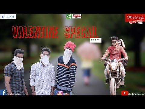 valentine specail par1 || sha fahad pathan || hubli funny video ||
