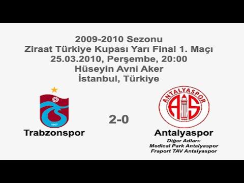 Trabzonspor 2-0 Antalyaspor [HD] 25.03.2010 - 2009-2010 Turkish Cup Semi Final 1st Leg