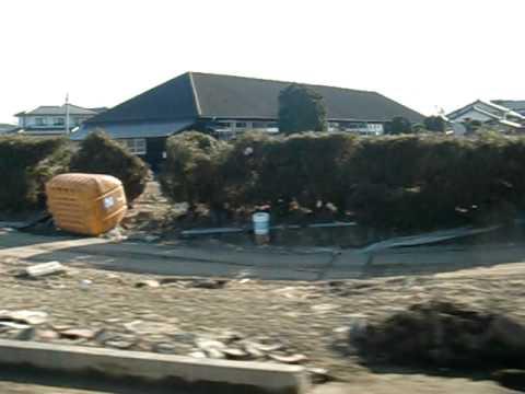 【East JAPAN Earthquake】from ARAHAMA(WATARI-Town) to IWANUMA(1-April-2011)