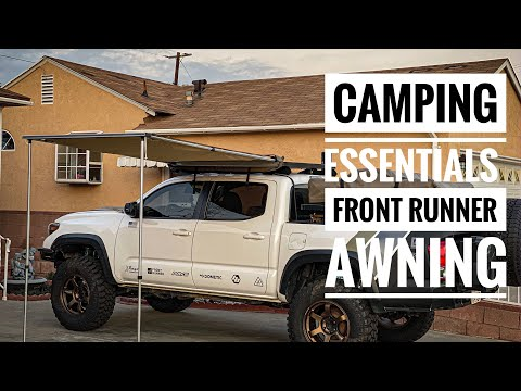 Easy-Out Front Runner Vehicle Awning Install    Toyota Tacoma