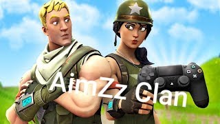 Fortnite Battle Royal(English)! Own Clan AimZz apply! Road to 200 abos