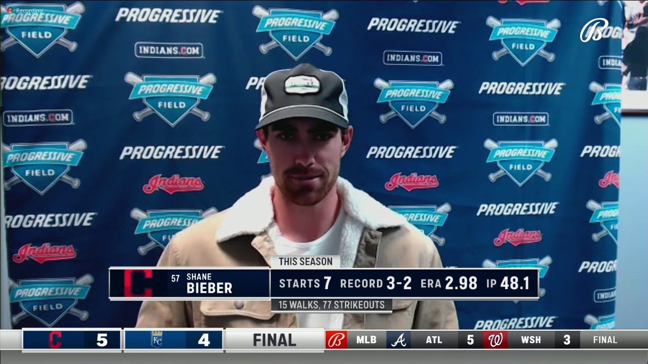 Bieber on his tough start tonight, but praises the team for their performance