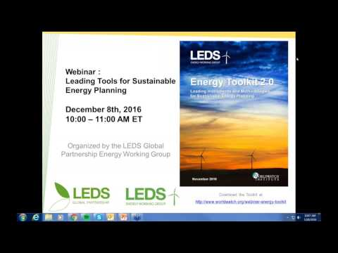 Webinar: Leading Tools for Sustainable Energy Planning