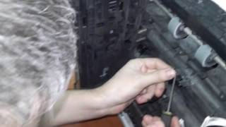 Kyocera FS-4300DN сдвиг изображения и замятие (Ремонт)