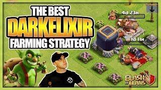 The Best TH 9 Dark Elixir Farming Strategy 2017 | No Hero Dark Elixir Farming Army | Clash of Clans