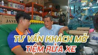 Tư vấn khách hàng mở tiệm rửa xe oto , xe máy | Công Ty TAHICO