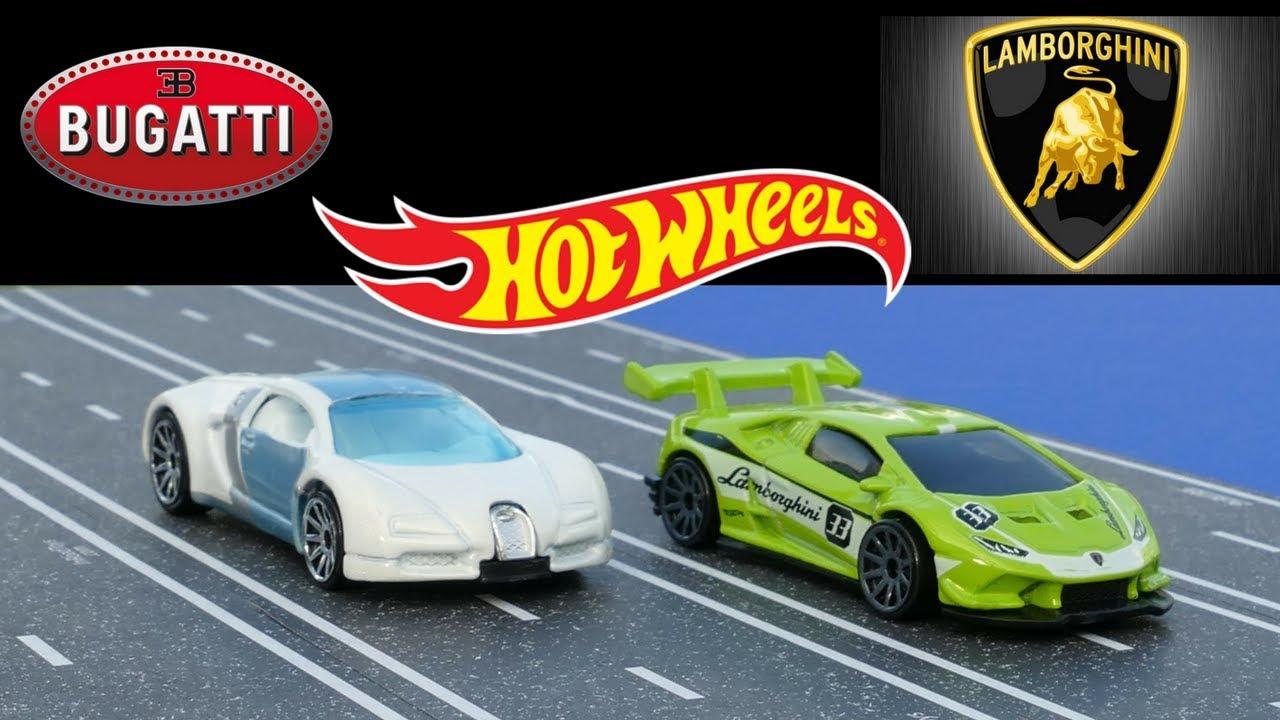 Hot Wheels Bugatti Veyron Vs Lamborghini Huracan Super Trofeo Mega