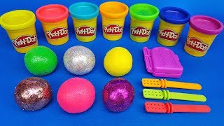 Learn Colors with Colored Balls out of Play Doh | Making 4 Ice Cream | Learn Numbers | For Children