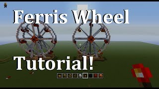 Xbox 360 Minecraft: How to make a Ferris Wheel (Tutorial)