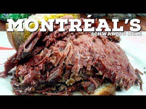 🇨🇦MOUTHWATERING Meat Sandwich In MONTREAL, CANADA! | Saint Laurent STREET ART | SCHWARTZ'S DELI