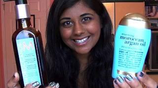 Review: Moroccan Oil Hair Treatment vs. Organix Renewing Moroccan Argan Oil