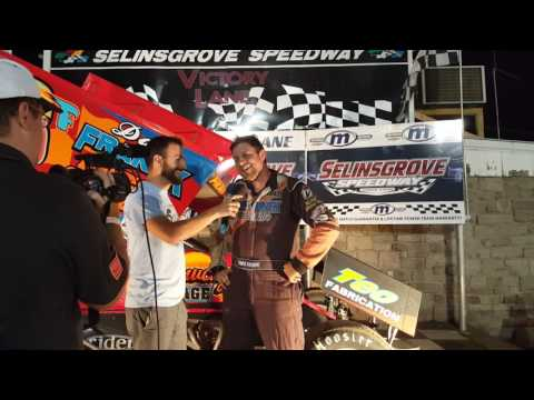Selinsgrove Speedway 360 Sprint Car Victory Lane 06-25-16