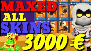 ALL SKINS MAXED BATTLELANDS ROYALE CRAZY! ALL LEGENDARY SKIN UPGRADE LIV 4