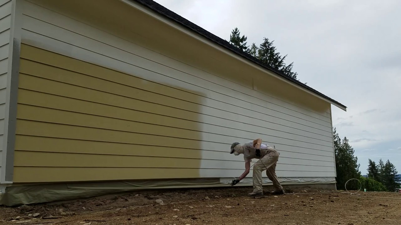 Spray Painting Hardi Plank Siding With Miller Paint Acry