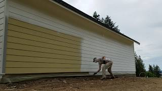 Spray Painting Hardi-Plank Siding with Miller Paint Acry-Lite Velvet.