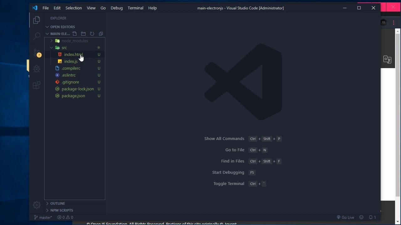 Приложение для Windows на Electron (JS, Node)