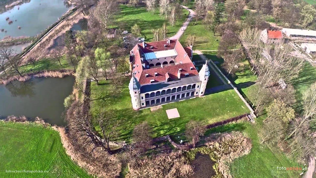 Pałac w Krobielowicach z lotu ptaka - YouTube