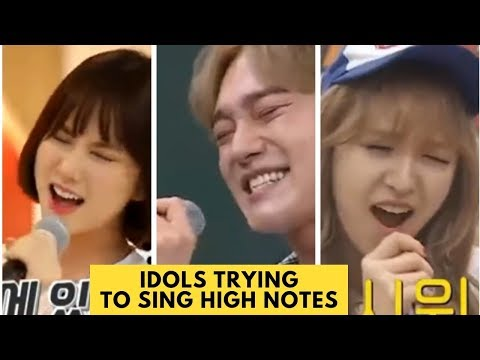Kpop Idols Trying To Sing High Notes (Tears For SO CHAN WHEE)
