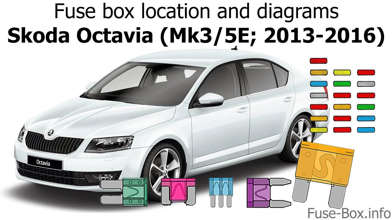 medium resolution of fuse box location and diagrams skoda octavia mk3 5e 2013 2016 fuse box skoda octavia 2013