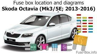 fuse box location and diagrams: skoda octavia (mk3/5e; 2013-2016) - youtube  youtube
